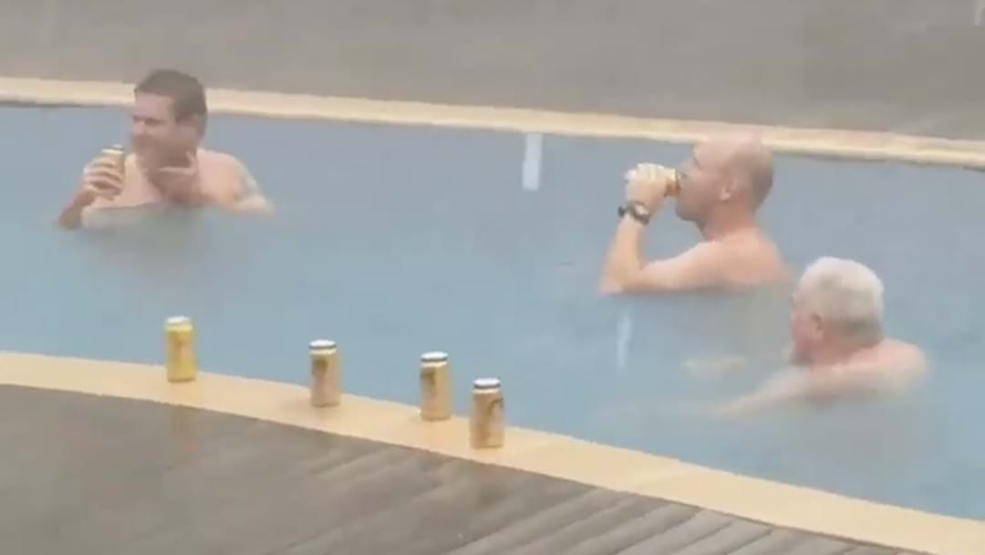 Blokes Spotted Sinking Birthday Tinnies In The Pool During Darwin's Cyclone