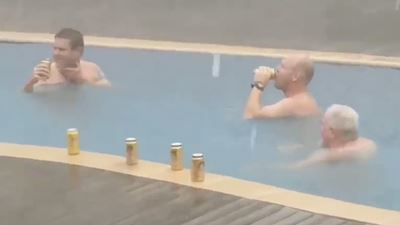 Blokes Spotted Sinking Pool Tinnies During Darwin Cyclone
