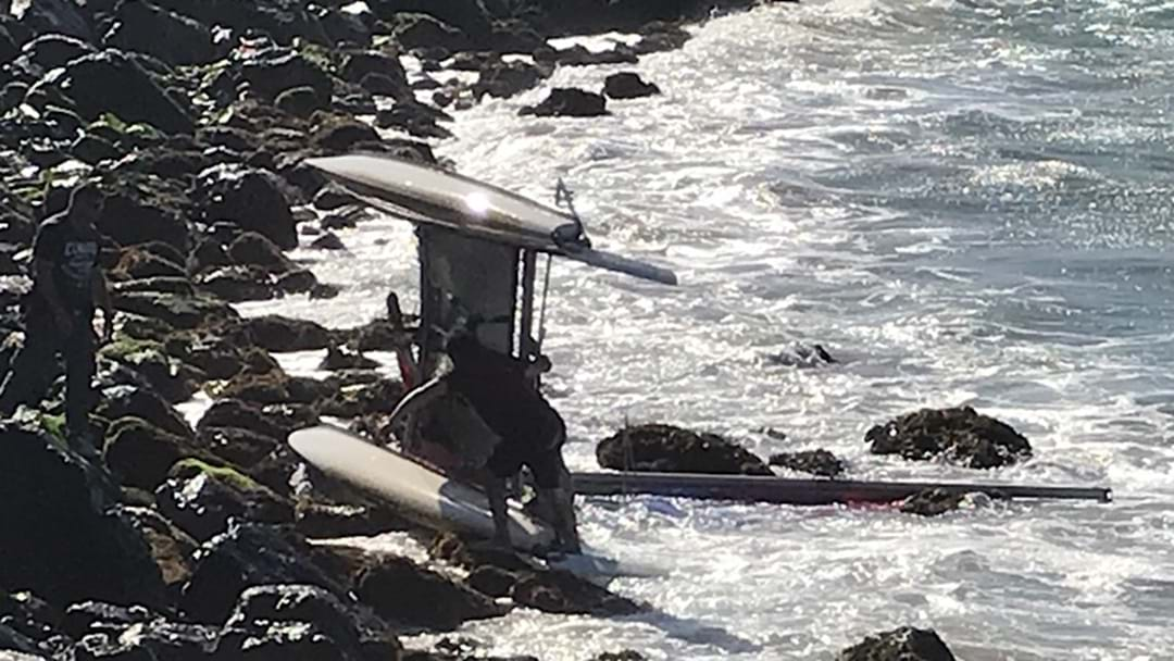 Catamaran Capsized on Rocks in Coffs Harbour