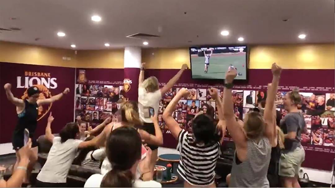 Brisbane's Reaction To Making The AFLW Grand Final Is Bloody Brilliant