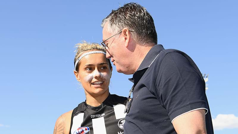 Article heading image for Listen To Eddie Getting The Crowd Fired Up At The AFLW