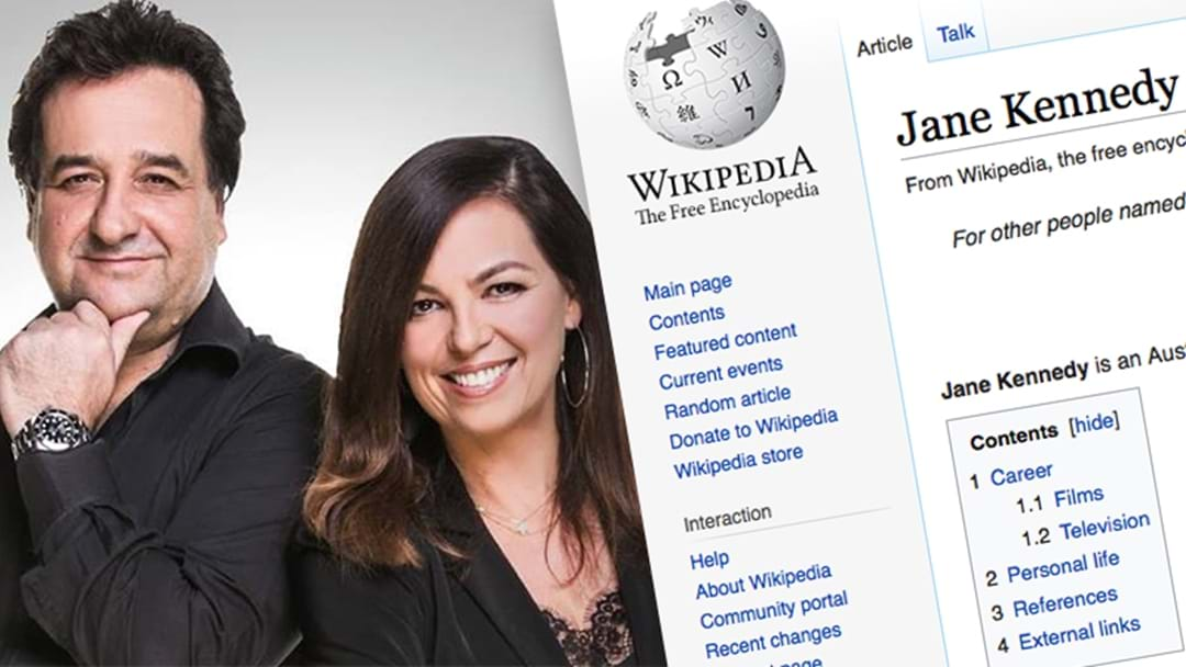 Mick Made Some 'Changes' To Jane's Wikipedia Page And Had Siri Read Them Out Live On Air