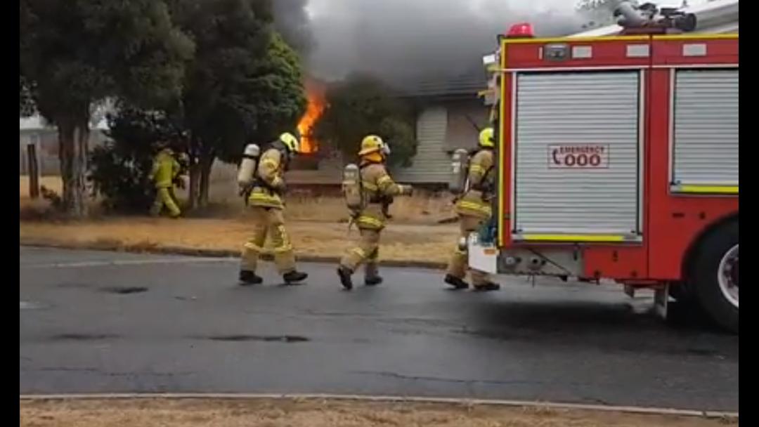 Suspicious house fire on Numurkah Road