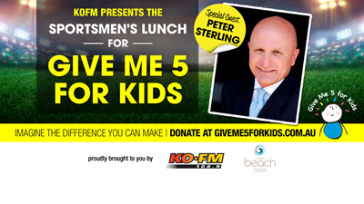 KOFM's Sportsmens Lunch for Give me 5 for Kids