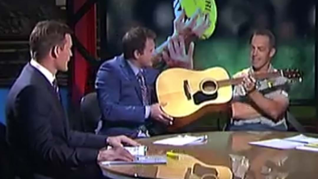 Luke Darcy Reveals What Clarko Said Off-Air When Campbell Brown Handed Him A Guitar