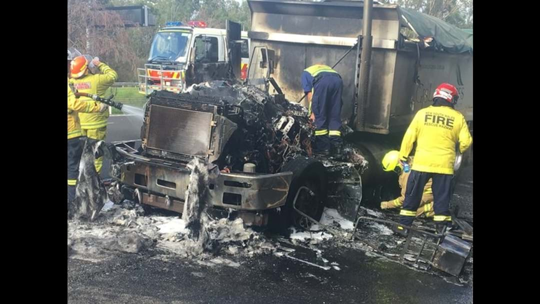 Traffic On The M4 Heavy After Truck Fire