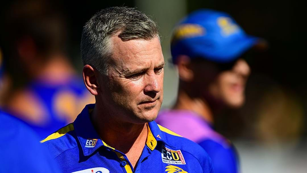 West Coast's Adam Simpson Has Flown Back To Perth And Won't Coach The Eagles Today