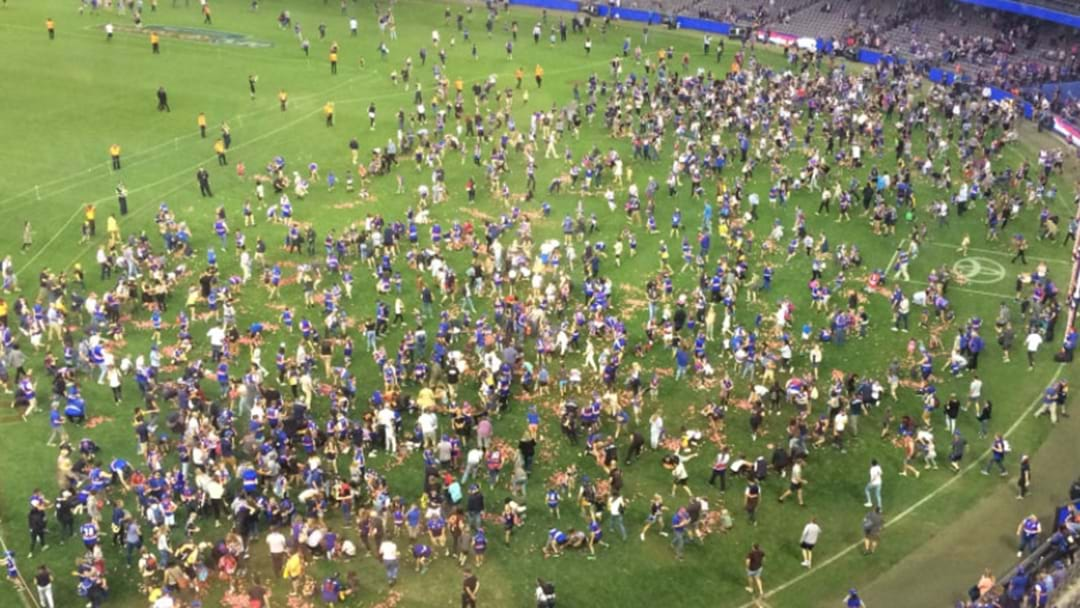Fans Flock Onto Etihad Stadium To Claim Free Easter Eggs