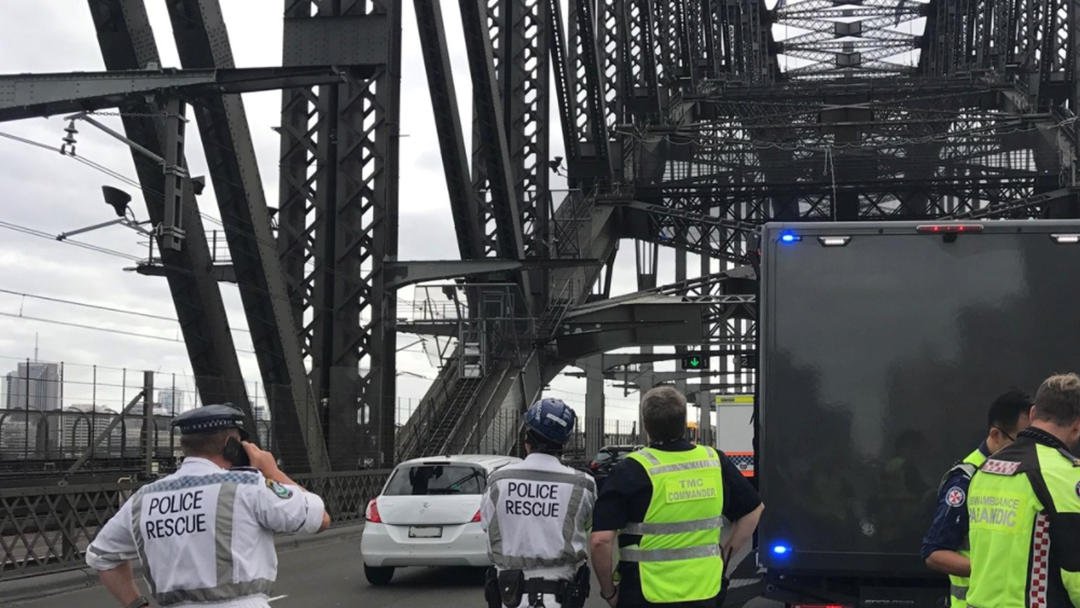 NSW Police And Emergency Services On The Ground As Harbour Bridge Operation Continues