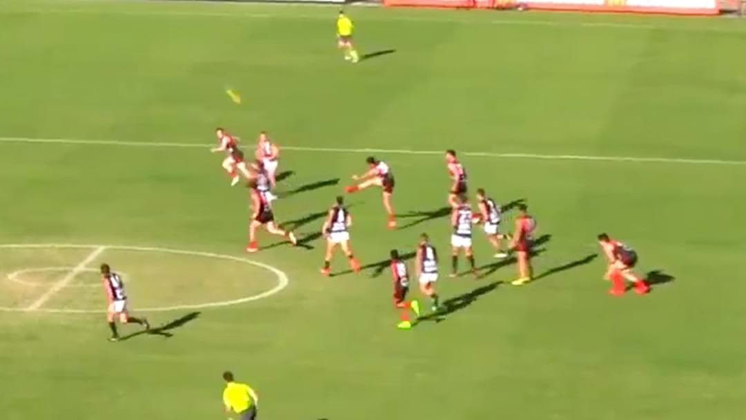 WAFL Player Just Casually Lets Rip With A 90-Metre Torp