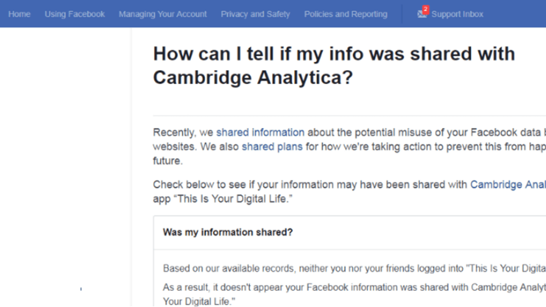 Here's How To Check Whether Your Facebook Was Breached By Cambridge Analytica