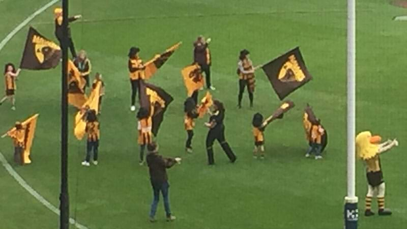 Article heading image for Hawthorn's Flag Bearers All Wore Mullets In Honour Of Ben Stratton