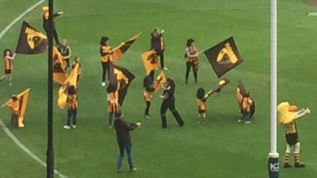 Hawthorn's Flag Bearers All Wore Mullets In Honour Of Ben Stratton