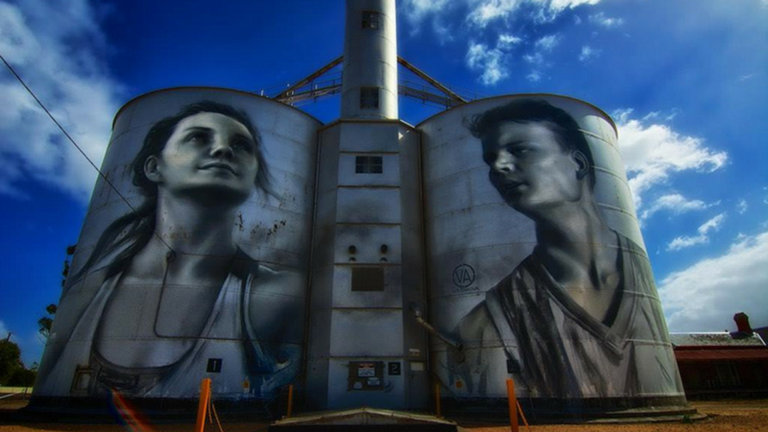A Mind-Blowing Silo Art Project Is Underway Near Benalla