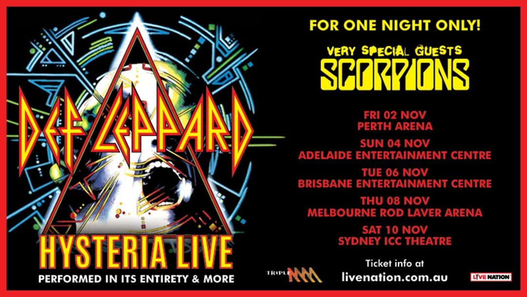 Def Leppard Coming To WA in November