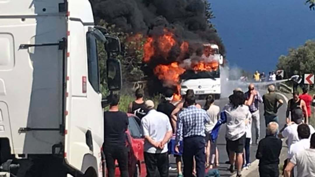 Aussies Caught Up In Bus Fire On The Way To Gallipoli Anzac Service