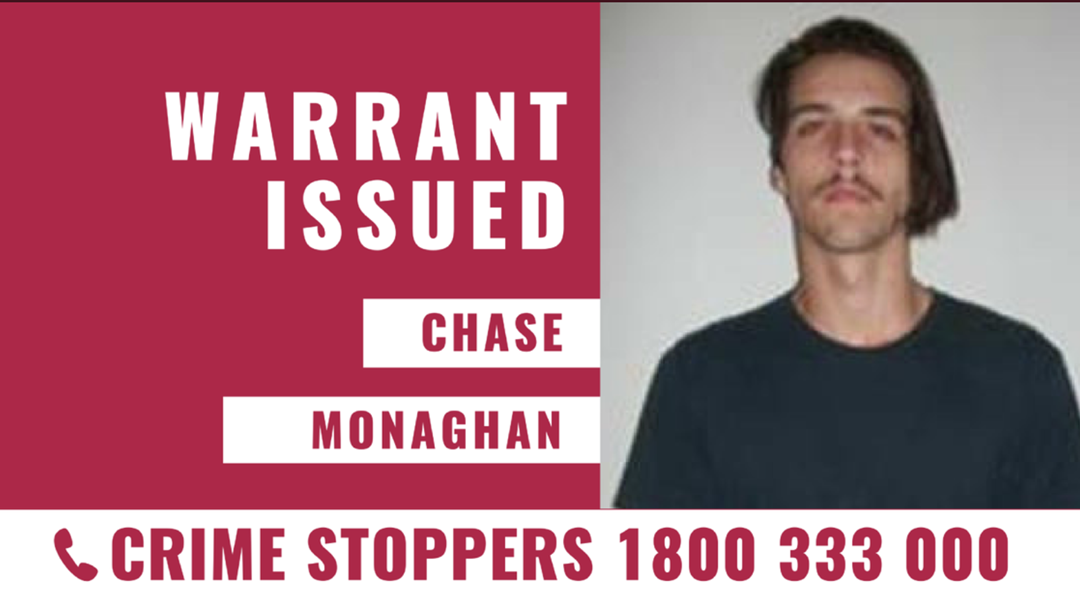 Warrant issued for Chase Monaghan