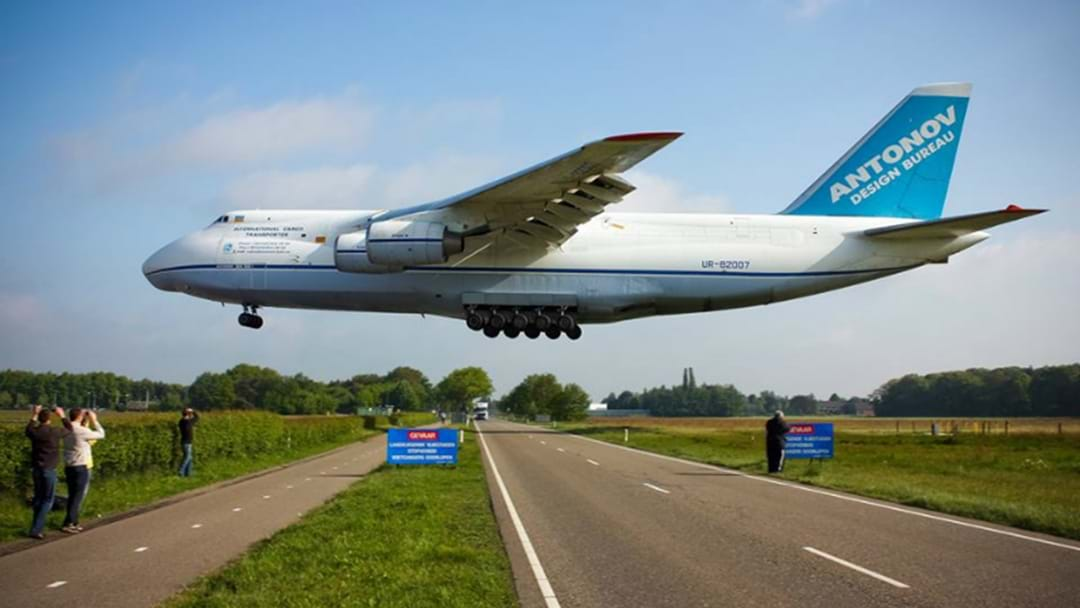 One Of The World's Biggest Planes To Land At Williamtown
