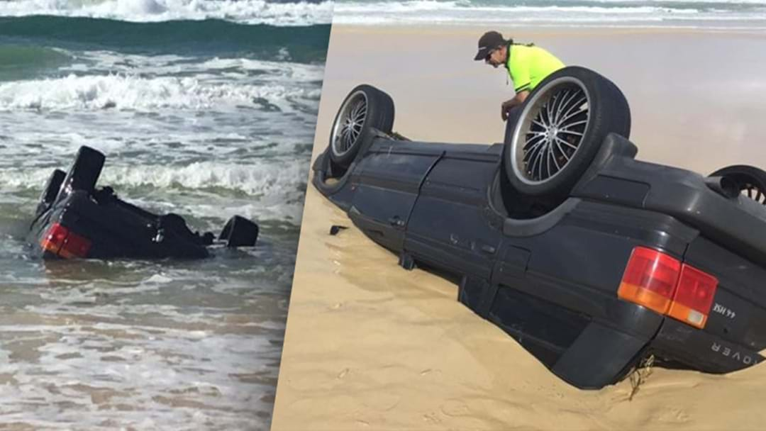 Someone Rolled Their Range Rover In QLD, And That's Why They're Not Called Beach Rovers