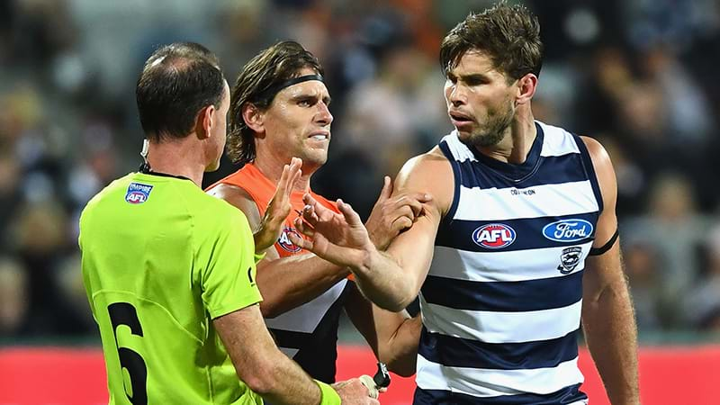 Article heading image for Tom Hawkins Sent Straight To Tribunal For Umpire Contact