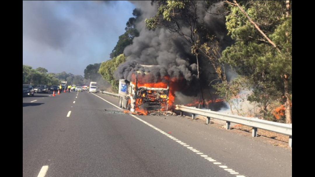 Truck Fire Closes M1