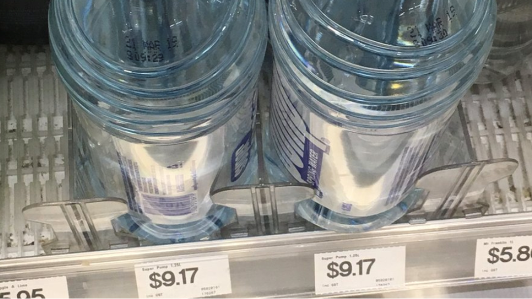 Forget Petrol Prices: Bottled Water Hits $9 At Sydney Airport