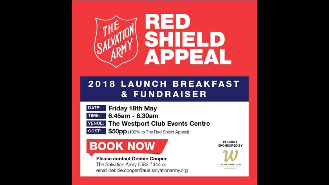 Greg from the Salvation Army talks about the Red Shield appeal with Strawny