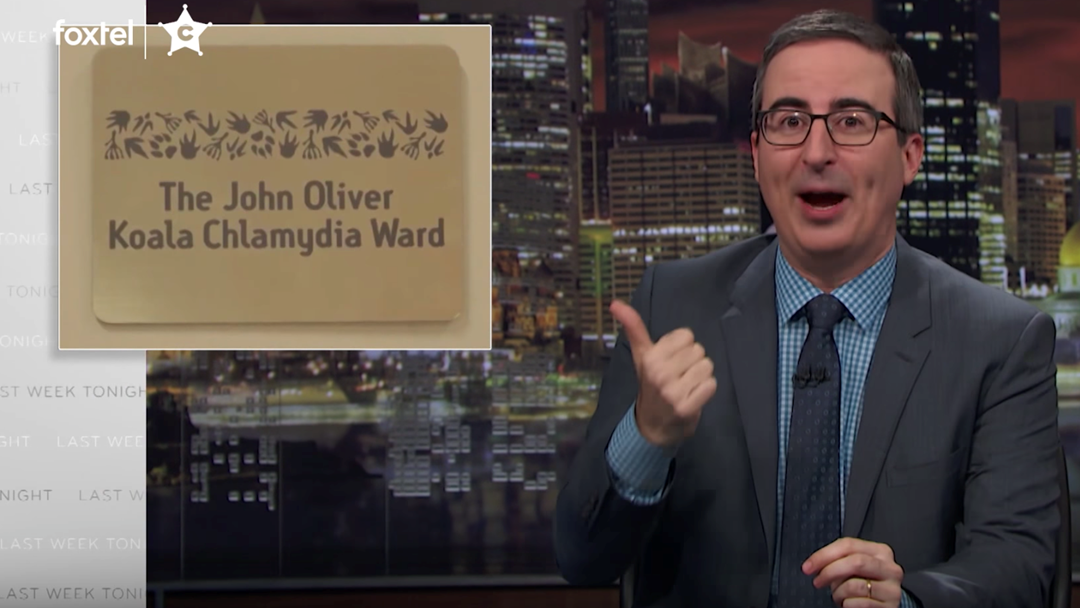 "John Oliver Is ""F*cking Done"" After Russell Crowe Pulls Off Epic Chlamydia Gag"