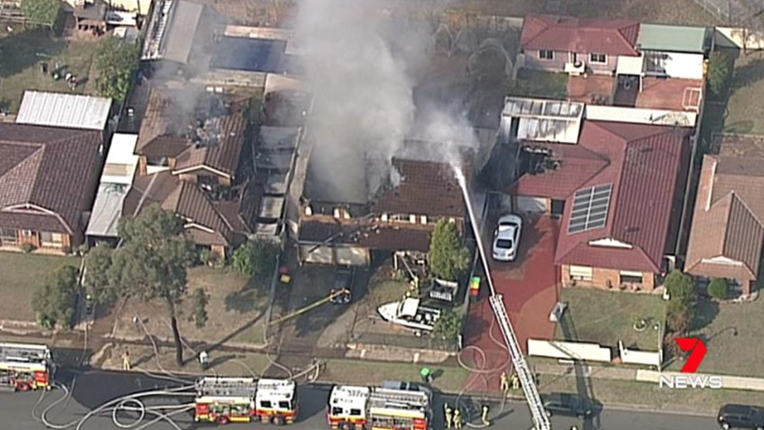 Massive Blaze Guts Two Homes In Sydney's South-West As Firies Fight To Save Third