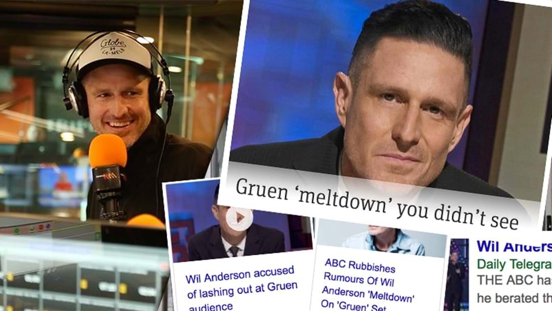 Wil Anderson Responds To Reports He Had A 'Meltdown'