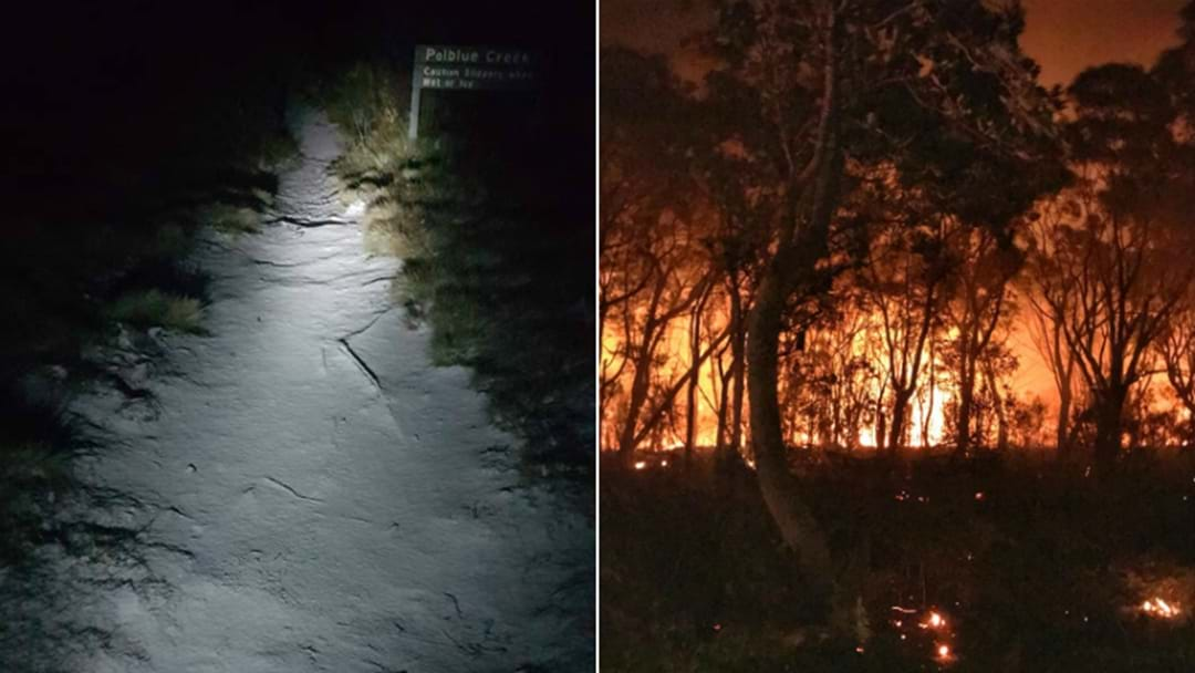 Hunter Gets Snow, Bushfire In The Same Night!