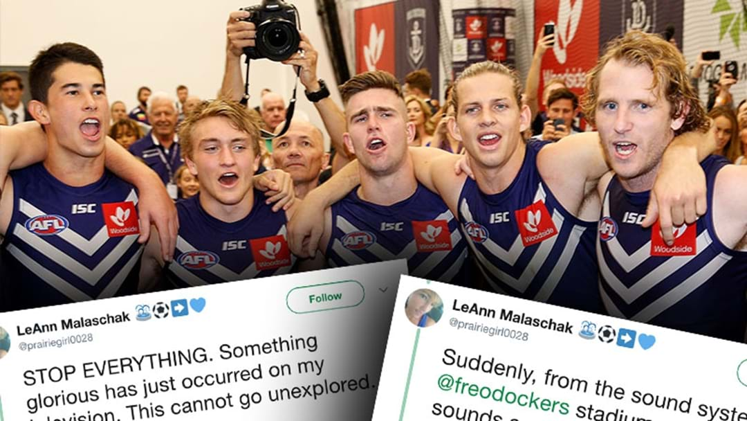 An American Woman Live Tweeted The Experience Of Hearing Fremantle's Song For The First Time