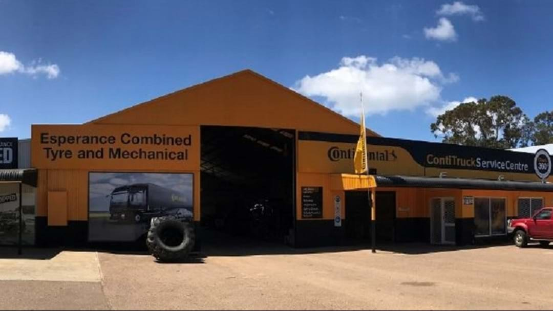 Sean for Lunch! Outside Broadcast at Esperance Combines Tyres and Mechanical