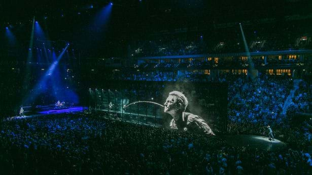 Article heading image for U2's Bono Has Become A Giant Hologram
