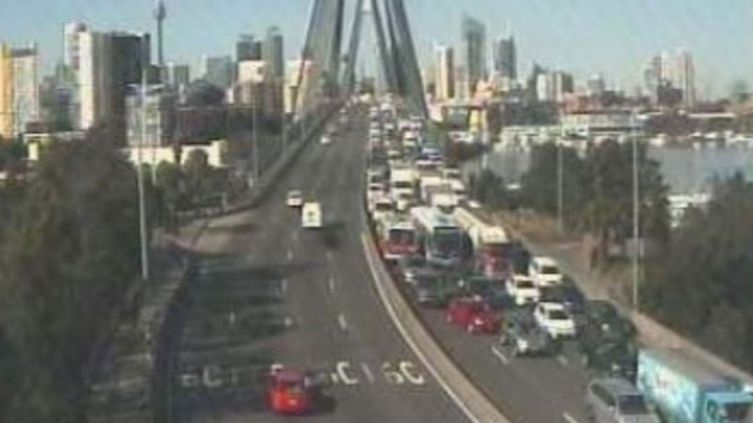 Huge Crash Involving Multiple Cars And A Truck Near The Anzac Bridge