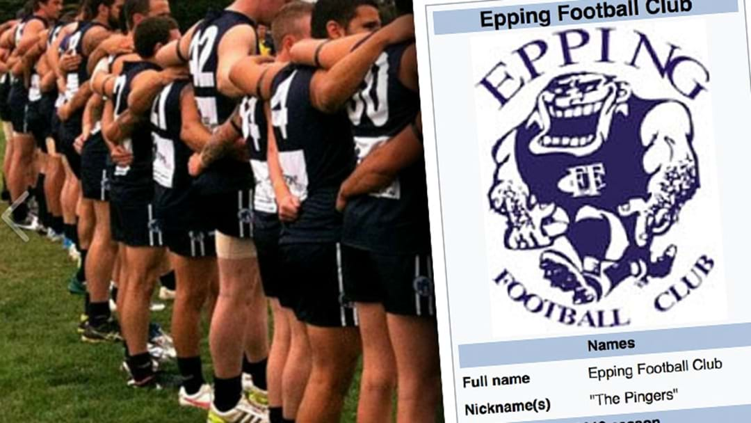 """There's A Local Footy Side In Melbourne's North Called """"The Pingers"""""""