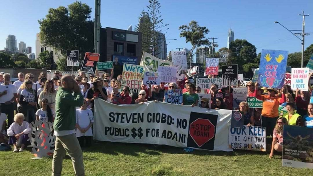 Anti-Adani Protestors Rally Outside Gold Coast MP's Office