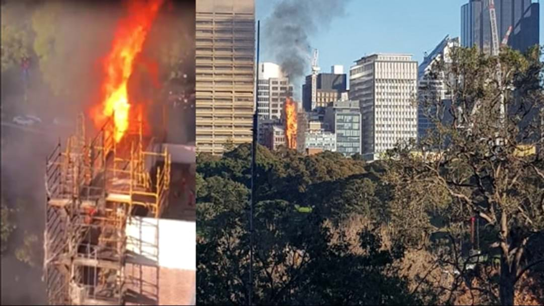 BREAKING | Fireys Fighting Huge Blaze In Sydney CBD