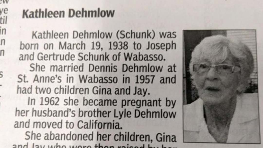 American Woman Cops An Absolutely Ruthless Obituary From Her Kids