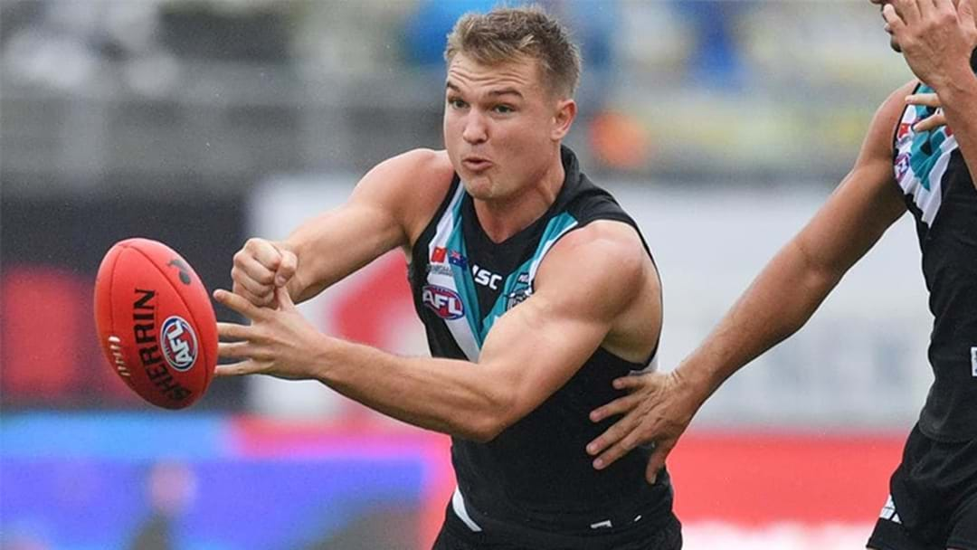 """Ollie Wines Will """"100 Percent Stay"""" At Port Adelaide"""