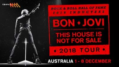 Bon Jovi Announce This House Is Not For Sale 2018 Australian Tour