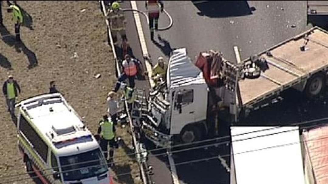 Huge Truck Crash On The M7