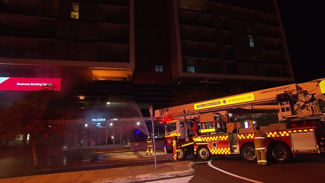 WATCH: BBQ Sparks Newcastle Balcony Fire