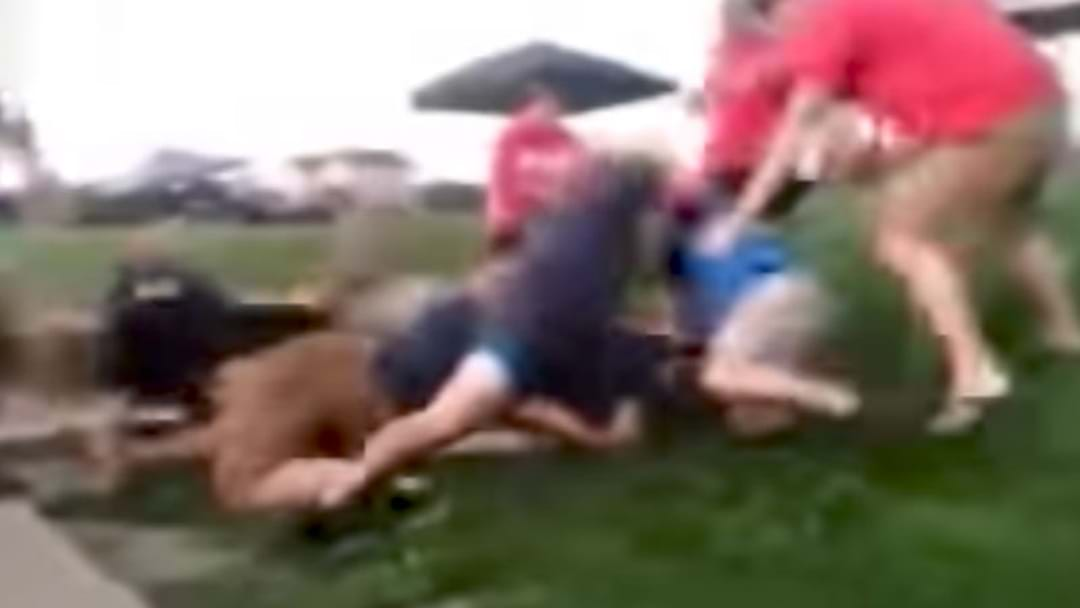 Highly Disturbing Footage Of An All-In Brawl From A Kids' Softball Game