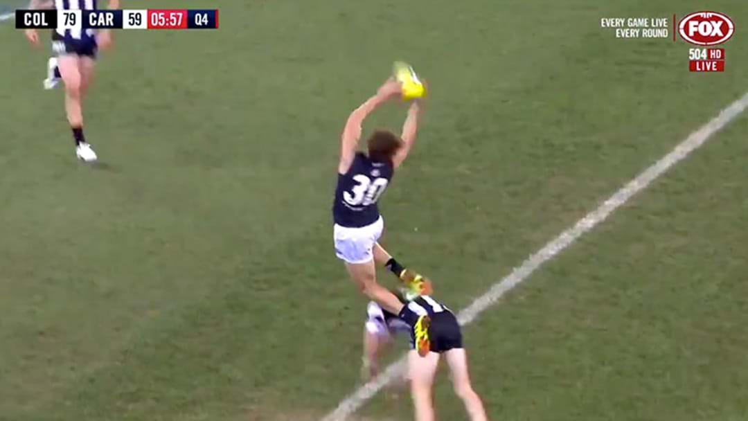 Charlie Curnow Put Up Two Nominations For Mark Of The Year Against The Pies