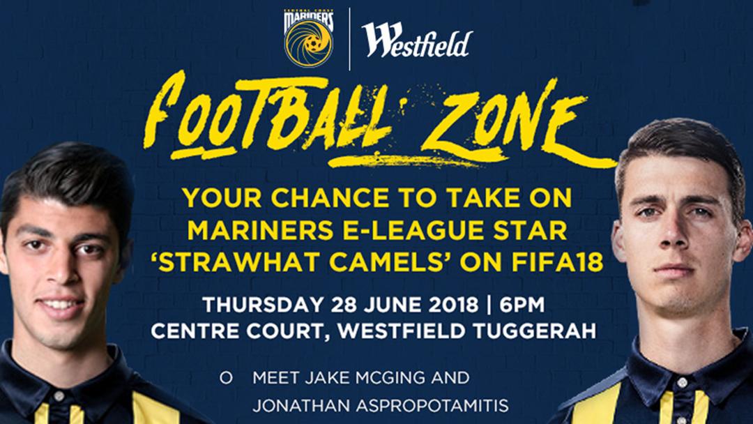 Meet The Mariners At Westfeild Tuggerah Tonight!