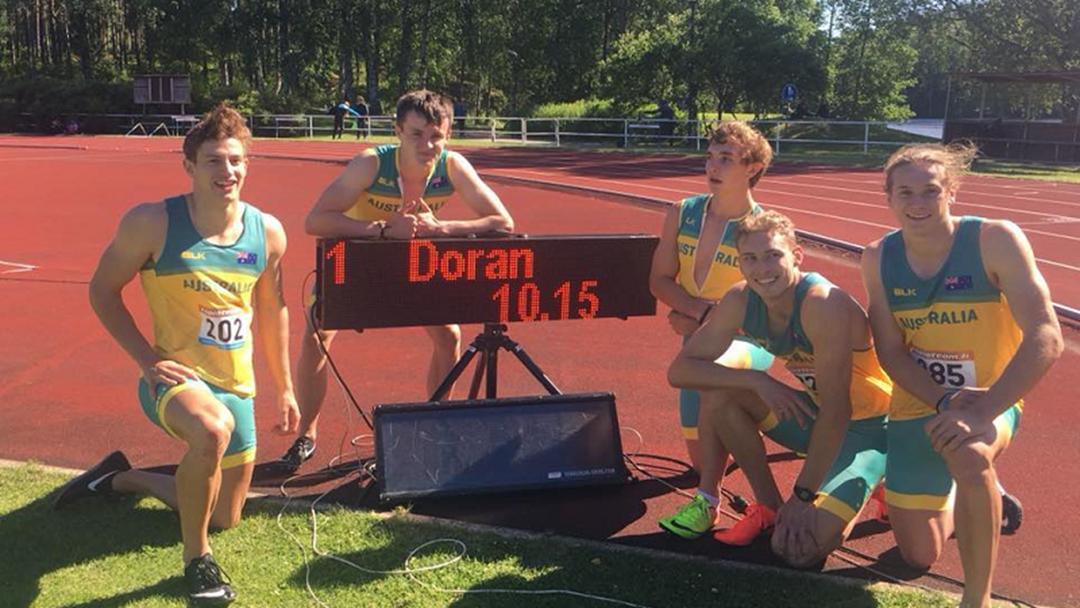 Townsville Sprinter Jake Doran Has Smashed Aussie Junior 100m Record