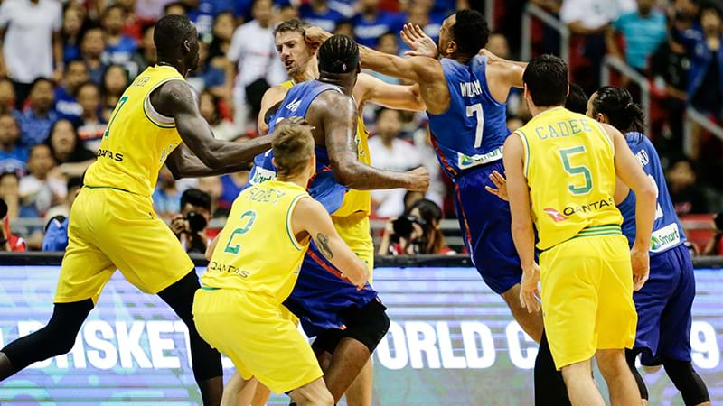 Australian players banned in wake of basketball brawl in Manila