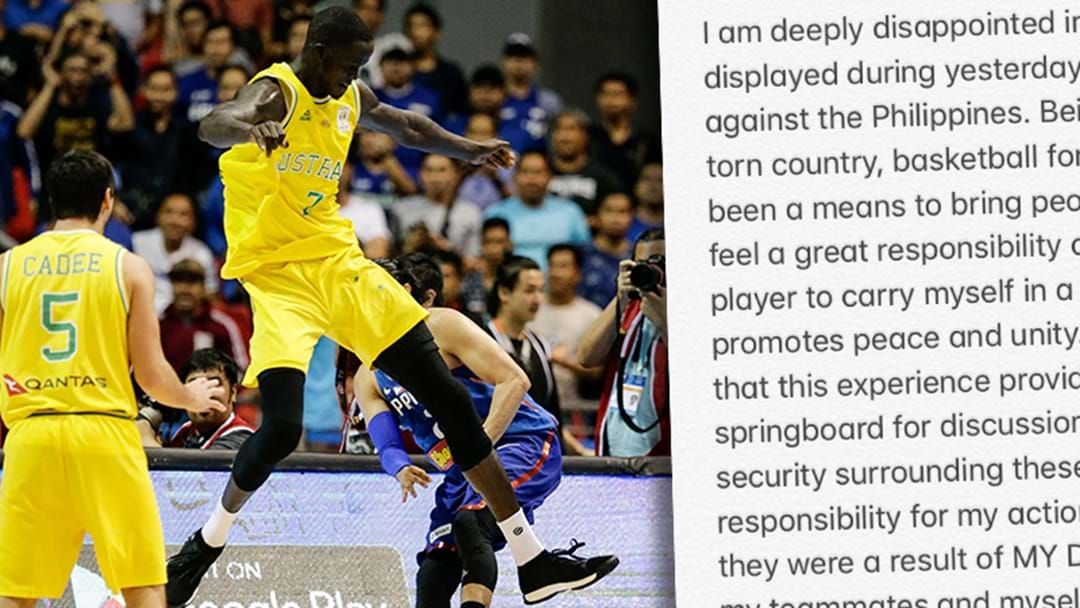 Thon Maker Releases Statement On Last Night's Australia/Philippines Basketball Brawl