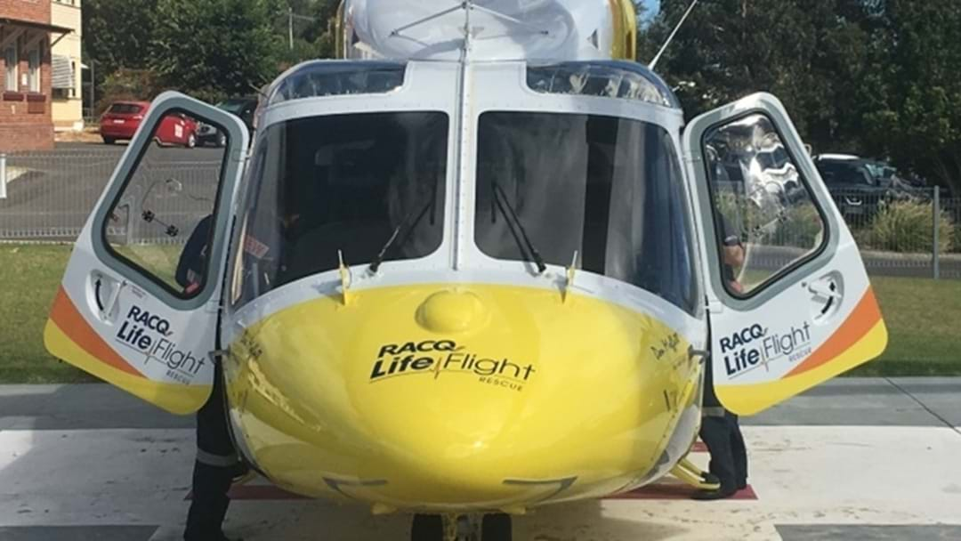 Teenager Airlifted After Car Rollover